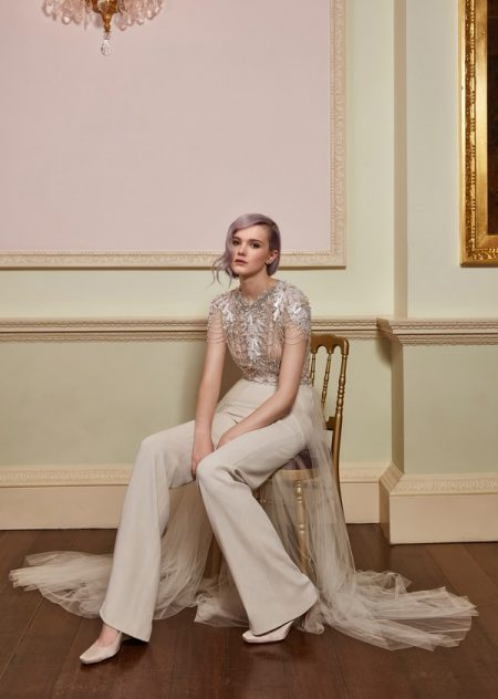 Magic Top with Clemence Trousers from the Jenny Packham 2018 Bridal Collection
