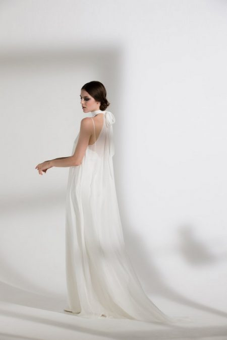 Back of Magnolia Wedding Dress with Iris Slip from the Halfpenny London The Garden After the Rain 2018 Bridal Collection