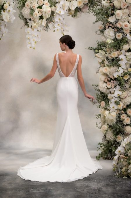 Back of Maria Top with Lani Skirt from the Anna Georgina Inca Lily 2018 Bridal Collection