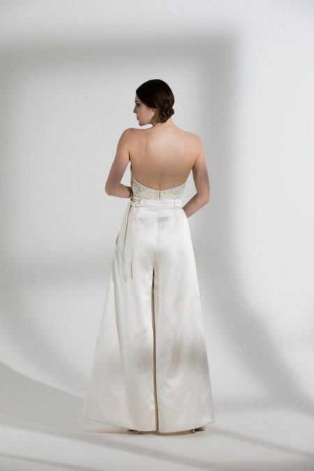 Back of Marlene Trousers with Dita Corset from the Halfpenny London The Garden After the Rain 2018 Bridal Collection
