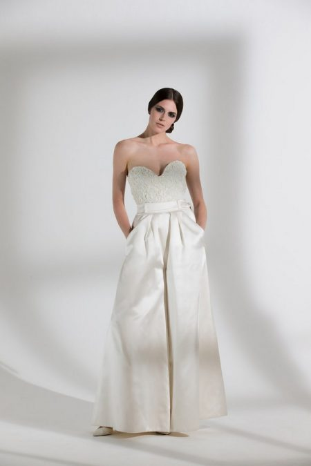 Marlene Trousers with Dita Corset from the Halfpenny London The Garden After the Rain 2018 Bridal Collection