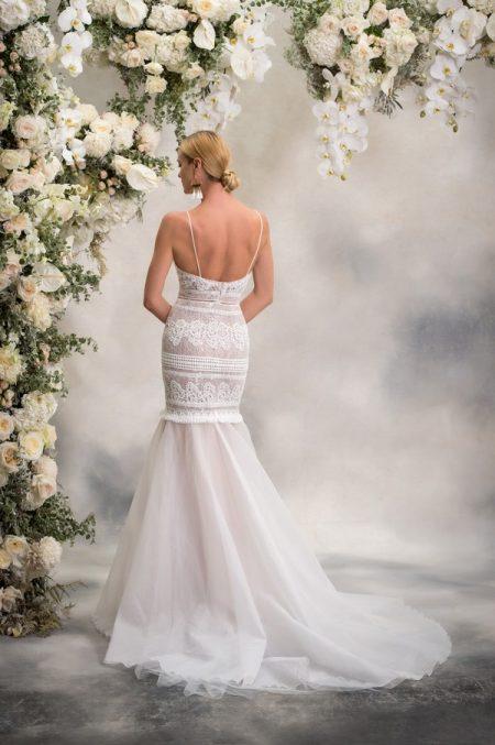 Back of Medina Wedding Dress from the Anna Georgina Inca Lily 2018 Bridal Collection