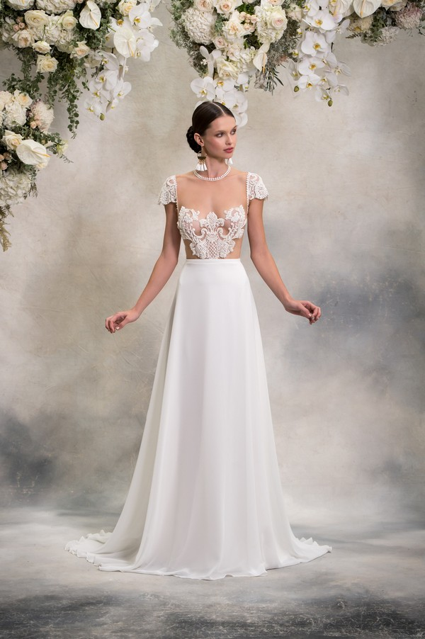 Paige Top with Luna Skirt from the Anna Georgina Inca Lily 2018 Bridal Collection