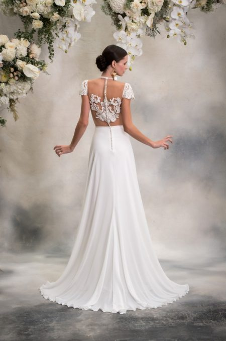 Back of Paige Top with Luna Skirt from the Anna Georgina Inca Lily 2018 Bridal Collection