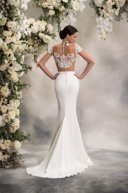 Back of Paige Top with Sephora Skirt from the Anna Georgina Inca Lily 2018 Bridal Collection