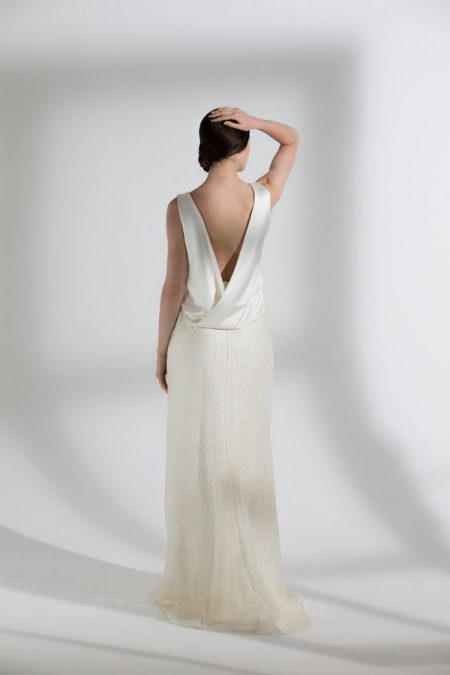 Back of Palma Skirt with Rafe Top from the Halfpenny London The Garden After the Rain 2018 Bridal Collection