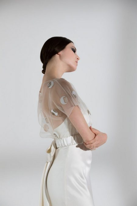 Side of Posey Top with Iris Slip from the Halfpenny London The Garden After the Rain 2018 Bridal Collection