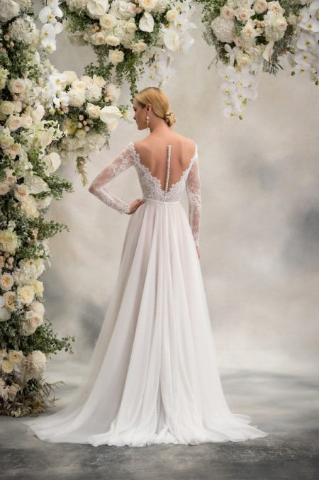 Back of Reeva Top with Delphine Skirt from the Anna Georgina Inca Lily 2018 Bridal Collection