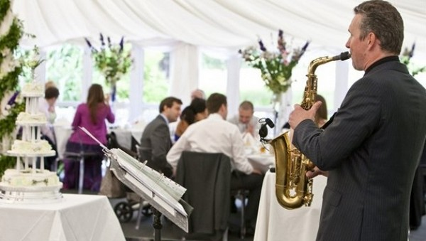 Wedding Saxophonist Playing at Wedding Breakfast