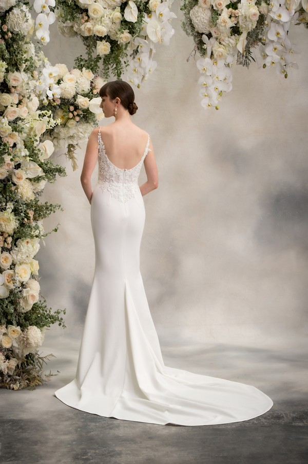 Back of Shelly Wedding Dress from the Anna Georgina Inca Lily 2018 Bridal Collection