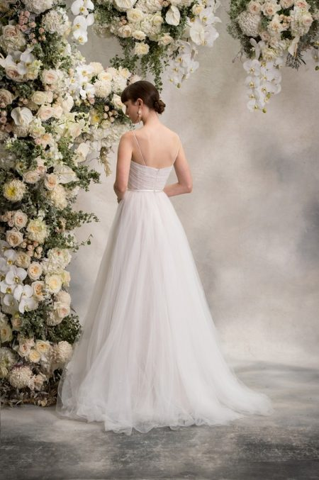 Back of Simone Wedding Dress from the Anna Georgina Inca Lily 2018 Bridal Collection