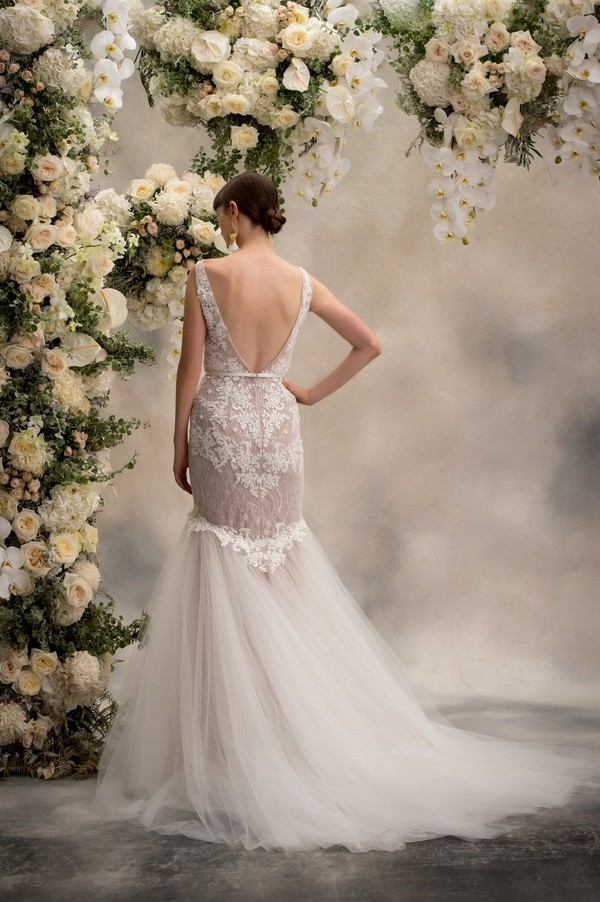 Back of Sophia Wedding Dress from the Anna Georgina Inca Lily 2018 Bridal Collection