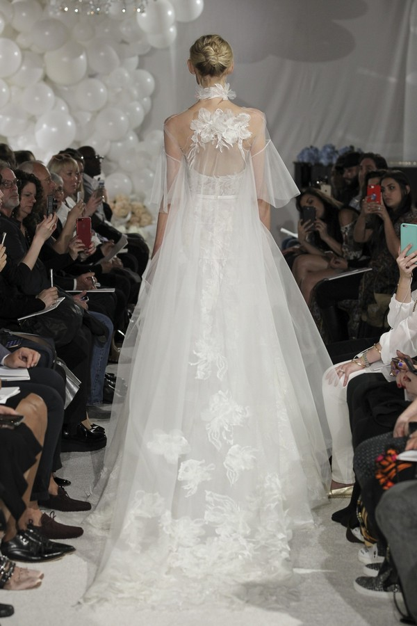 Back of Tiffania Wedding Dress from the Mira Zwillinger Over the Rainbow 2018 Bridal Collection