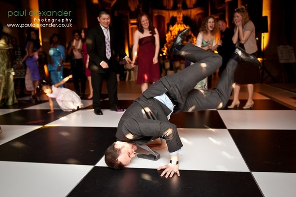 Wedding Guest Break Dancing