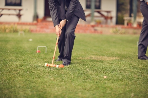 Wedding Guest Playing Croquet