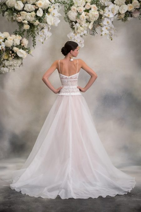 Back of Yuka Wedding Dress from the Anna Georgina Inca Lily 2018 Bridal Collection