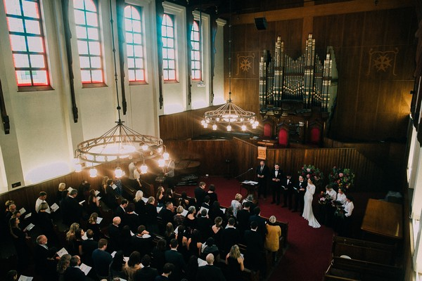 Wedding ceremony in NG Kerk Tafelberg