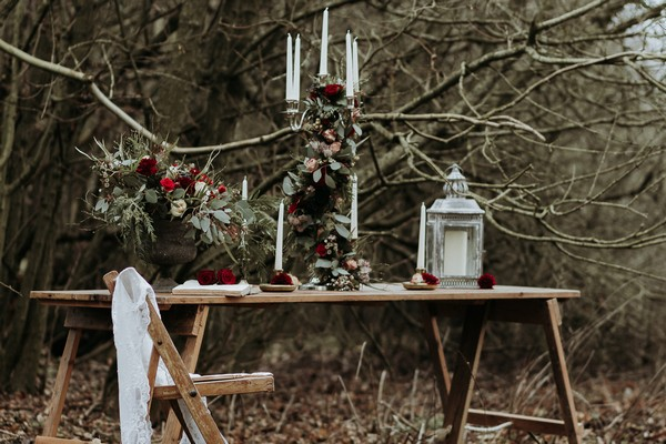 Winter wedding tablescape styled by Hayley Jayne Weddings and Events