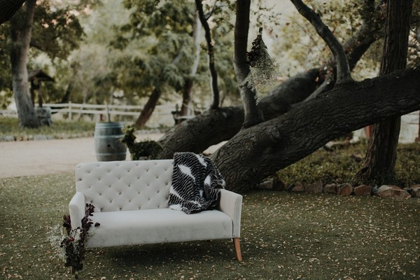 Couch under tree