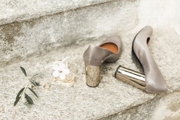 Grey bridal shoes