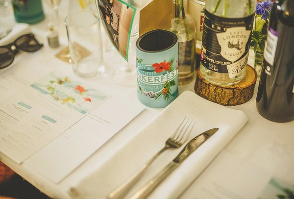 Festival wedding table styling