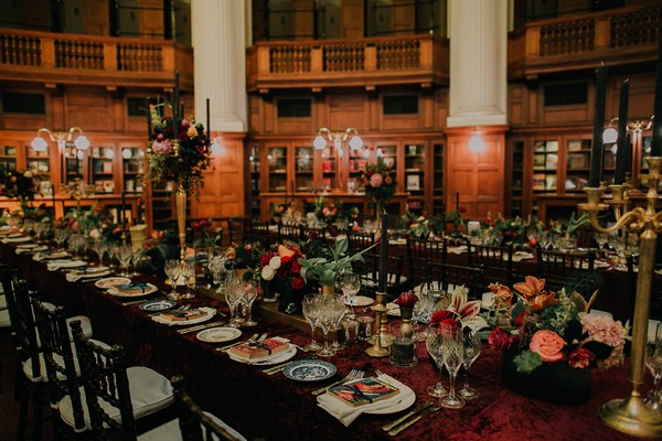 Opulent wedding table styling
