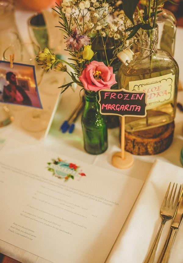Frozen Margarita wedding table sign