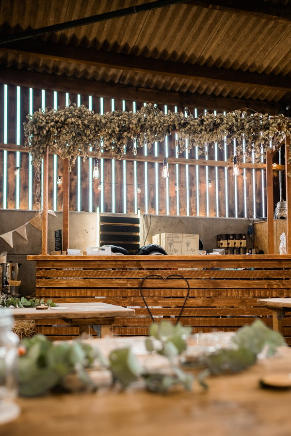 Wedding bar made from crates