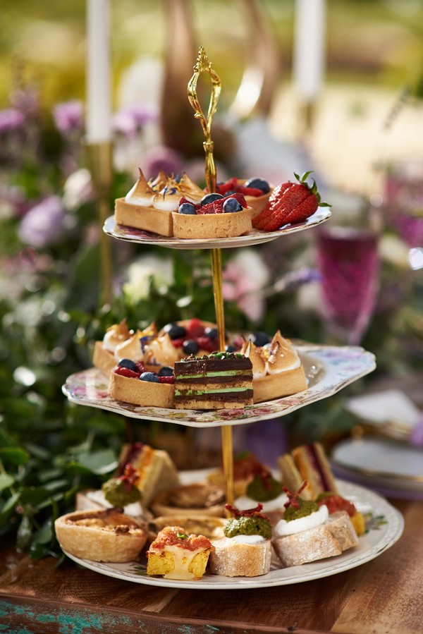 Cake stand of treats