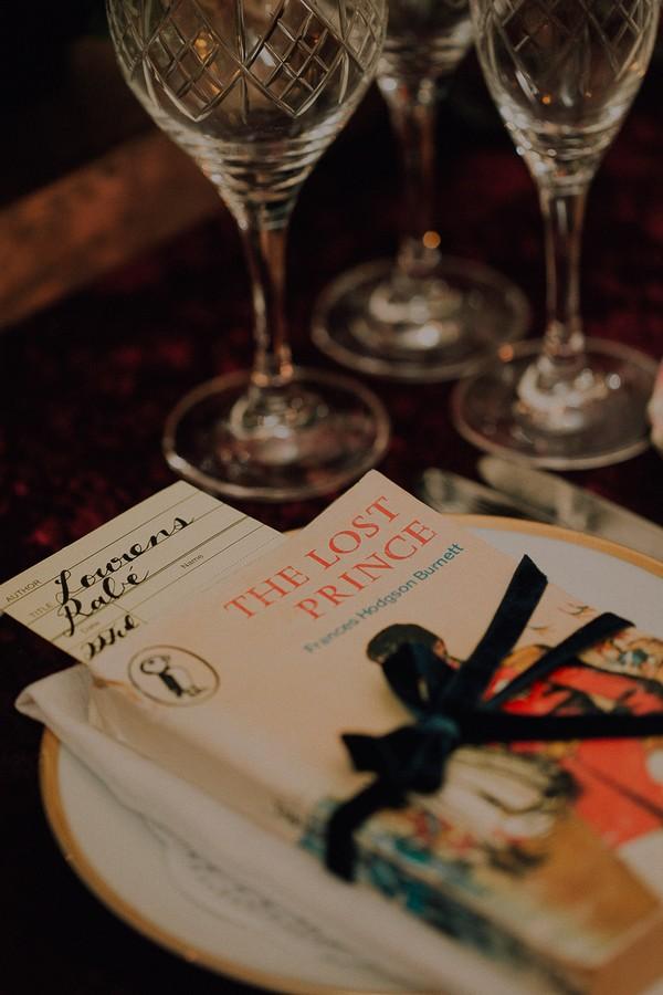 Book on wedding table