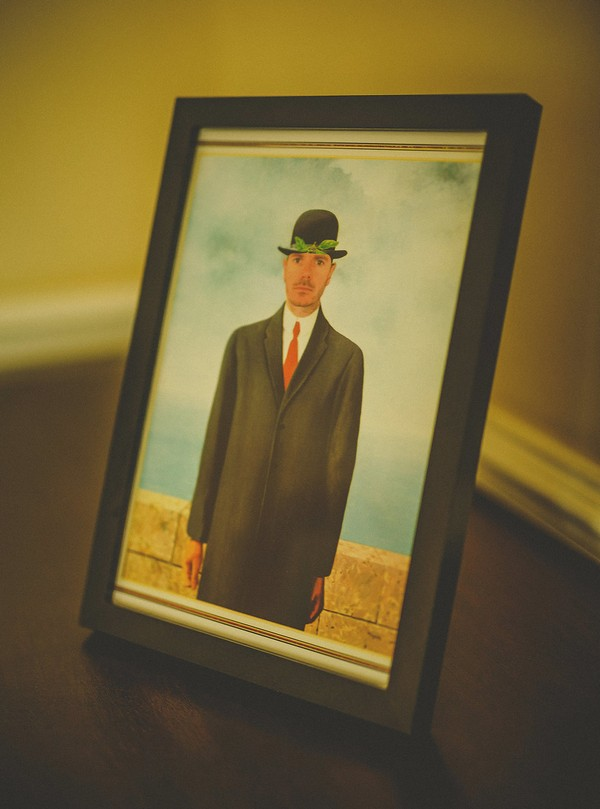 Photograph of man in bowler hat