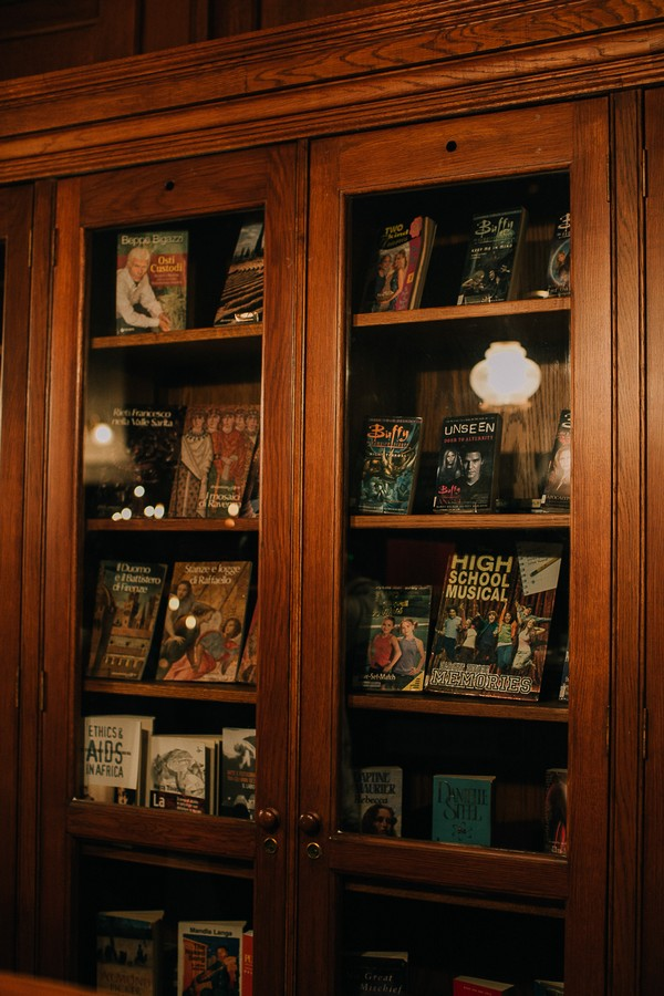 Books in cabinet in Centre for the Book