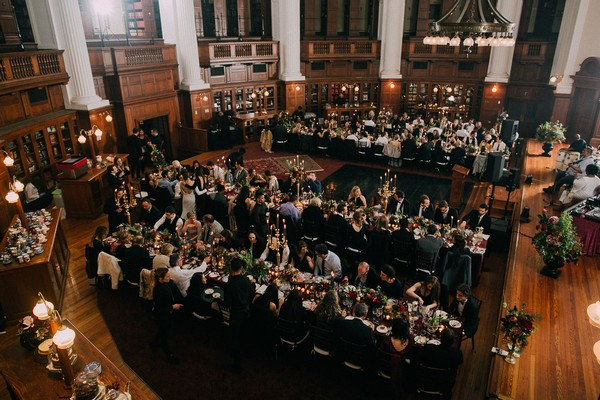 Wedding breakfast in centre for the book