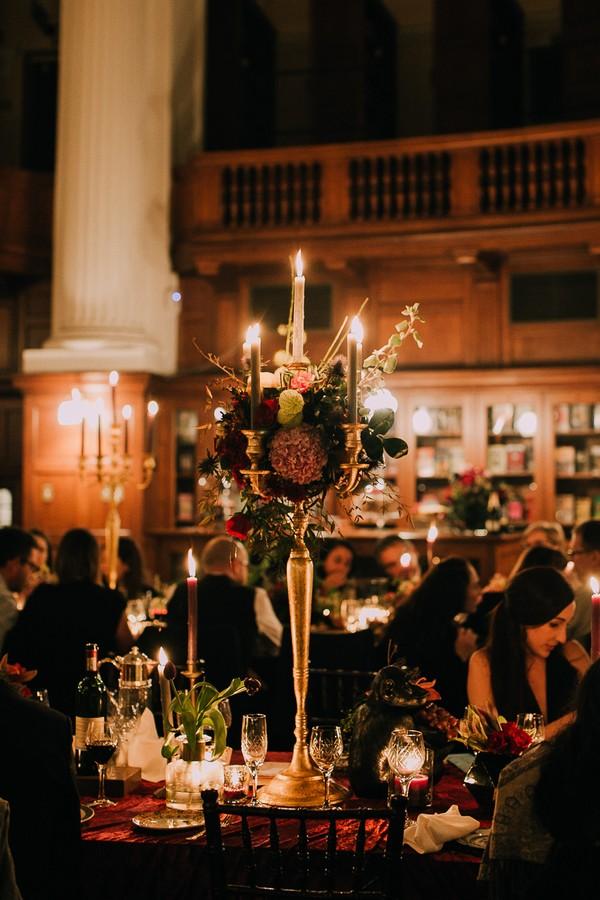 Floral candelabra display