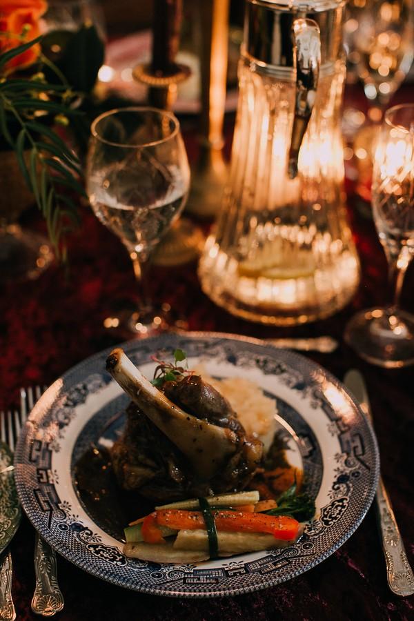 Lamb shank wedding food
