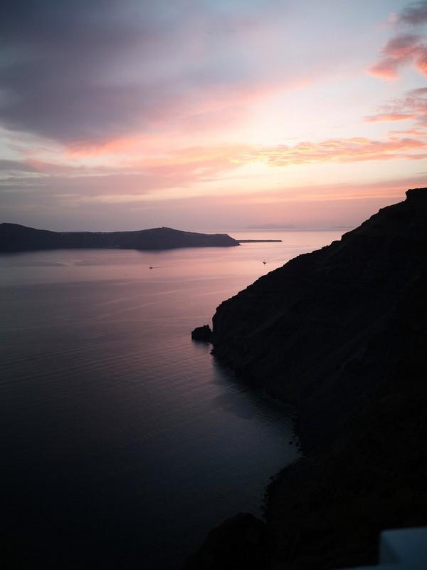 Santorini at sunset
