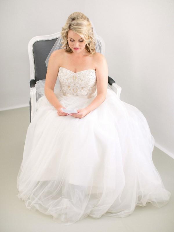 Bride practising vows