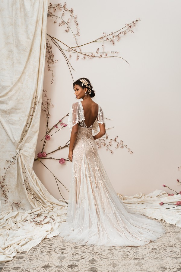 Back of 9890 Wedding Dress from the Justin Alexander Signature Spring/Summer 2018 Bridal Collection