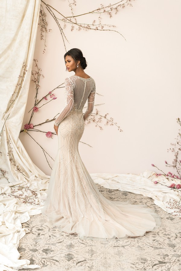 Back of 9894 Wedding Dress from the Justin Alexander Signature Spring/Summer 2018 Bridal Collection
