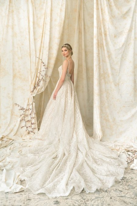 Back of 9895 Wedding Dress from the Justin Alexander Signature Spring/Summer 2018 Bridal Collection