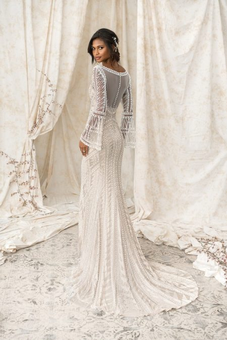 Back of 9896 Wedding Dress from the Justin Alexander Signature Spring/Summer 2018 Bridal Collection