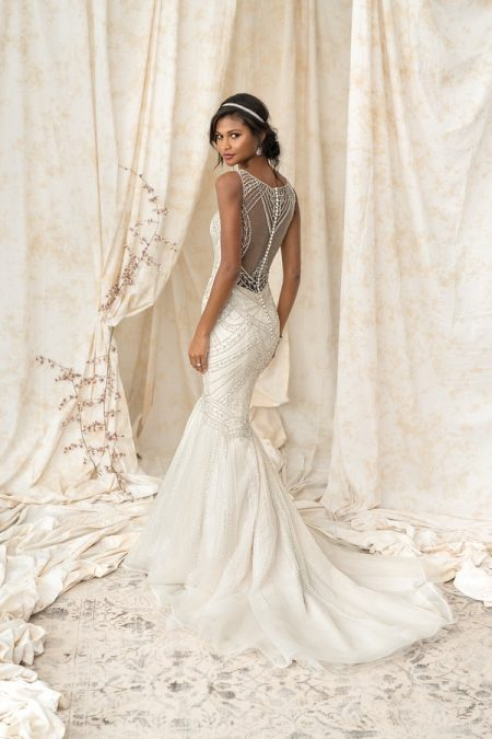 Back of 9897 Wedding Dress from the Justin Alexander Signature Spring/Summer 2018 Bridal Collection