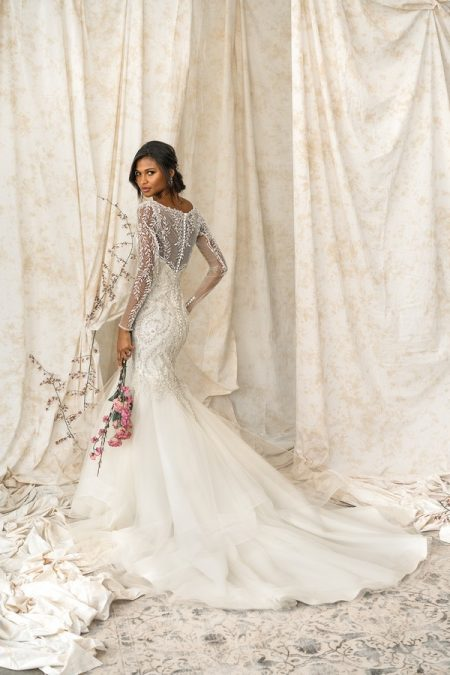 Back of 9901 Wedding Dress from the Justin Alexander Signature SS18 Bridal Collection
