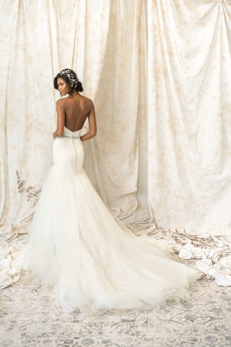 Back of 9903 Wedding Dress from the Justin Alexander Signature SS18 Bridal Collection