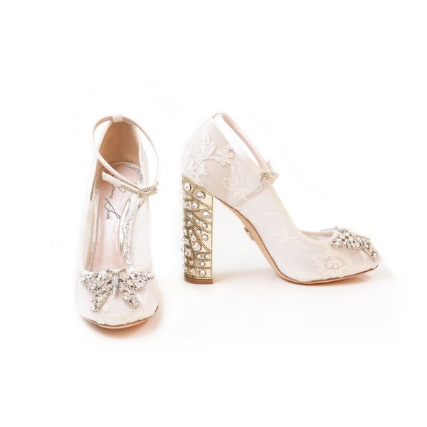 Alannah Bridal Shoes from the Aruna Seth Pearls and Diamonds Collection