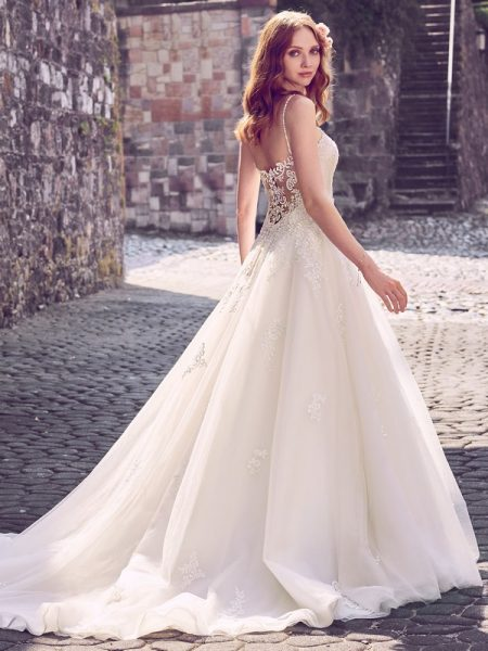 Back of Amara Wedding Dress from the Maggie Sottero Emerald 2018 Bridal Collection