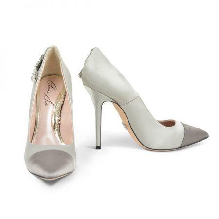 Aria Pointed Toe Two Tone Side Butterfly Bridal Shoes by Aruna Seth