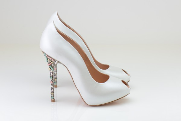 Aruna Seth Bridal Shoes - Ivory Pearlised Shoes