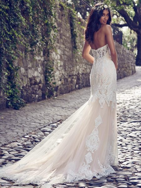 Back of Autumn Wedding Dress from the Maggie Sottero Emerald 2018 Bridal Collection