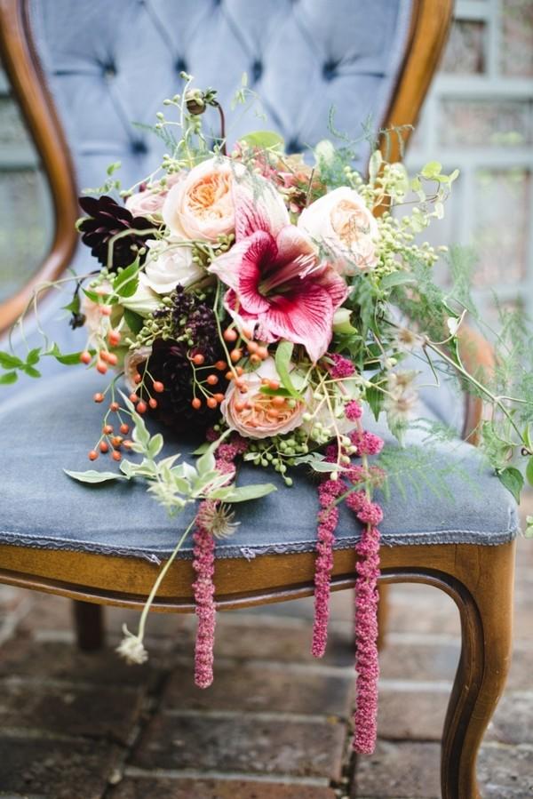 Autumn Wedding Bouquet with Berries